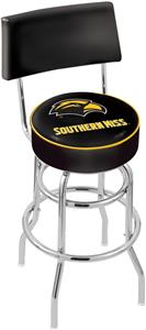 Southern Mississippi Double-Ring Back Bar Stool