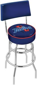 University of Tulsa Double-Ring Back Bar Stool
