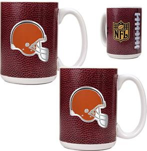 NFL Cleveland Browns Gameball Mug (Set of 2)