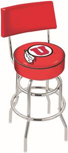 University of Utah Double-Ring Back Bar Stool