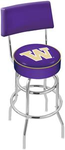 Univ of Washington Double-Ring Back Bar Stool