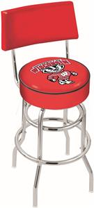 Univ Wisconsin Badger Double-Ring Back Bar Stool