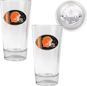 NFL Cleveland Browns 2 Piece Pint Glass Set