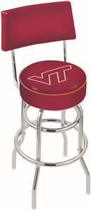 Virginia Tech Univ Double-Ring Back Bar Stool
