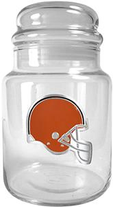 NFL Cleveland Browns Glass Candy Jar