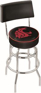 Washington State Univ Double-Ring Back Bar Stool