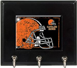 NFL Cleveland Browns Wood Keyhook Rack