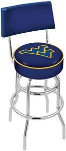 West Virginia Univ Double-Ring Back Bar Stool