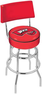 Western Kentucky Univ Double-Ring Back Bar Stool