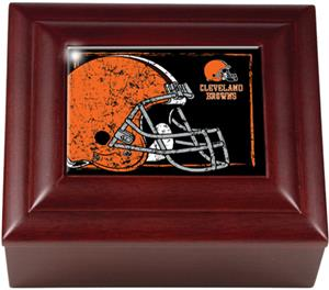 NFL Cleveland Browns Mahogany Keepsake Box