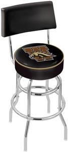 Western Michigan Univ Double-Ring Back Bar Stool