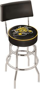 Wichita State Univ Double-Ring Back Bar Stool