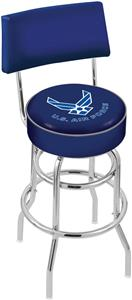 United States Air Force Double-Ring Back Bar Stool