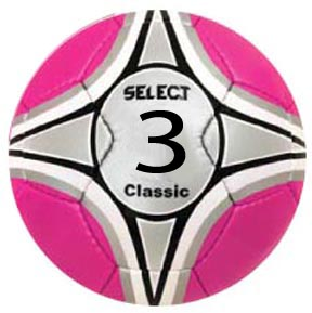 Select Classic Pink Soccer Ball Size 4 Closeout