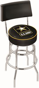 United States Army Double-Ring Back Bar Stool