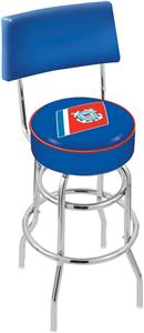 US Coast Guard Double-Ring Back Bar Stool