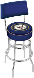 United States Navy Double-Ring Back Bar Stool