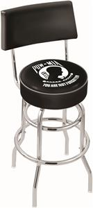 Holland POW/MIA Double-Ring Back Bar Stool