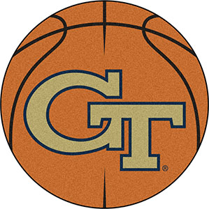 Fan Mats Georgia Tech Basketball Mat