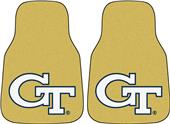 Fan Mats Georgia Tech Yellow Carpet Car Mats (set)