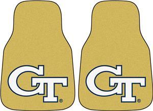 Fan Mats Georgia Tech Yellow Carpet Car Mats 2PC