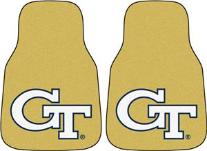 Fan Mats Georgia Tech Yellow Carpet Car Mats