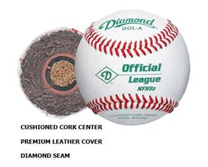 Diamond NFHS Official Licensed Baseballs DOL-A