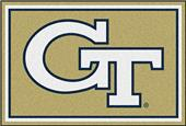 Fan Mats Georgia Tech 5x8 Rug