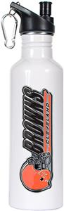 NFL Cleveland Browns White Stainless Water Bottle