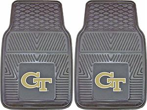 Fan Mats Georgia Tech Vinyl Car Mats (Set of 2)