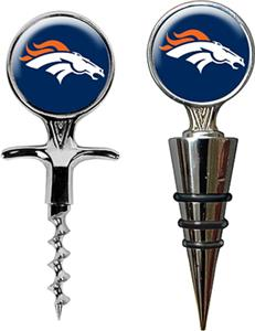 NFL Denver Broncos Cork Screw & Bottle Topper