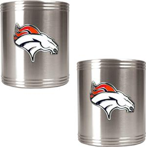 NFL Denver Broncos Stainless Steel Can Holders