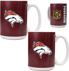 NFL Denver Broncos Gameball Mug (Set of 2)