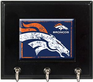 NFL Denver Broncos Wood Keyhook Rack