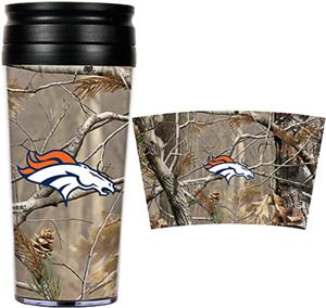 NFL Denver Broncos 16oz Realtree Travel Tumbler
