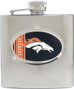 NFL Denver Broncos 6oz Stainless Steel Flask