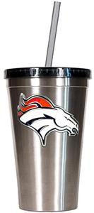 NFL Denver Broncos 16oz Tumbler with Straw