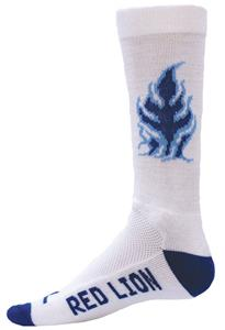 Red Lion Blue Flame Crew Sock