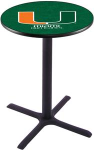 University of Miami FL Pub Table X Style Base