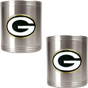 NFL Green Bay Packers Stainless Steel Can Holders