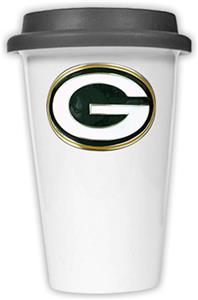 NFL Green Bay Packers Ceramic Cup with Black Lid
