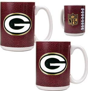 NFL Green Bay Packers Gameball Mug (Set of 2)