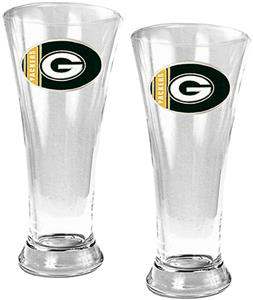 NFL Green Bay Packers 2 Piece Pilsner Glass Set