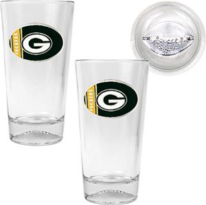 NFL Green Bay Packers 2 Piece Pint Glass Set