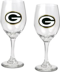 NFL Green Bay Packers 2 Piece Wine Glass Set