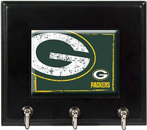 NFL Green Bay Packers Wood Keyhook Rack