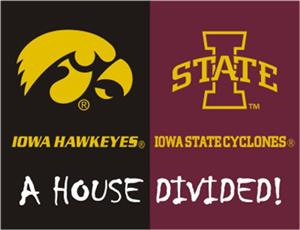 Fan Mats Iowa/Iowa State House Divided Mat