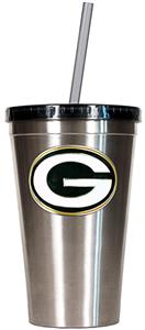 NFL Green Bay Packers 16oz Tumbler with Straw