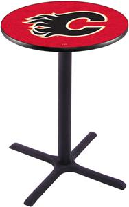 Calgary Flames NHL Pub Table X Style Base