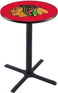 Chicago Blackhawks NHL Red Pub Table X Style Base